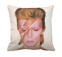 caf0798c1a2114 China David Bowie great singer Music Cool 33cmx33cm inch Throw Pillow Case  Pillowcase Cover (twin