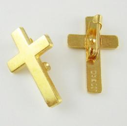 100 unids de oro plateado religioso cristiano Booches Cruz solapa Pin desde fabricantes