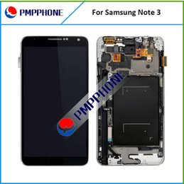 Wholesale Digitizer For Galaxy Note - High quality LCD Screen with Touch Digitizer Replacement For Samsung Galaxy Note 3 N900 N900A N9000 N9005 Grey and white color with frame