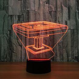 2019 großhandel fee lampe nacht lichter Mahjong Tabelle 3d Licht Illusion Lampe Transparent Acryl Nachtlicht Led Fairy Lampa Farbwechsel Touch Tischleuchte Großhandel Dropshipping rabatt großhandel fee lampe nacht lichter