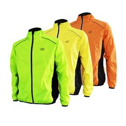 Wholesale Night Jacket - Wholesale-Anytoudoor night Reflective Breathable Men Waterproof Running Jacket Wind Coat Bicycle cycling Jersey cortavientos ciclis