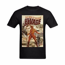 Diseño de arte online-MAN OF BRONZE DOC SAVAGE OLDSKOOL ARTWORK T-Shirt * DISEÑO COMPLETO DELANTERO *