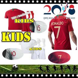 Wholesale Shirt Mario - 2018 2019 RONALDO PORTUGALIZER home kids SOCCER Jerseys GUEDES BERNARDO MARIO ANDRE SILVA GOMES AWAY JERSEY PORTUGAL FOOTBALL SHIRT