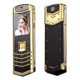 smartphone en acier inoxydable Promotion Nouveau téléphone de luxe débloqué Classic CellPhone 1 SIM GSM longue veille Bluetooth Dial Mp3 Radio FM Metal Body Quadri