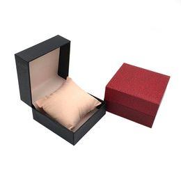 Wholesale Wristwatch Storage - Fashion Watch Box Plastic Sponge Lining Gift Box With Pillow Package Case Wristwatches Jewelry Storage Display