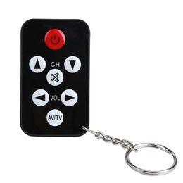 Wholesale mini tv remote control keychain - TV Mini Keychain Universal Remote Control for Philips Sony Panasonic Toshiba LO Television Controller Hot Sale