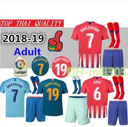 Discount atletico madrid kit - 18 19 GRIEZMANN Madrid home Soccer Jersey  kit 2018-19 992699765