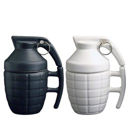 Wholesale porcelain markings - 250ml Grenade Mug Creative cup of coffee cup Thermo Reaction Temperature Discoloration Mark Cup Milk Coffee Cups