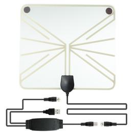 Телевизионные телевизоры онлайн-Антенна ТВ Цифров антенны ХДТВ крытая с усилителем соединенным с установленной верхней коробкой, антенной телевидения сигнала УХФ/УКВ внутренней