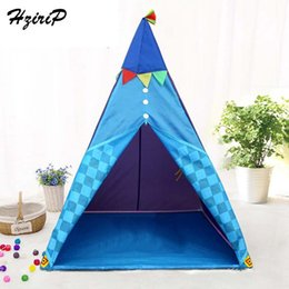 Wholesale Camping Toys For Kids - Wholesale-HziriP Children Tent Portable Foldable Tipi Camping Game Toy Waterproof Baby Play House Outdoor Fun Toys Tent for Kids Gifts