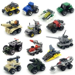 coches de juguete de montaje Rebajas Bloques modelo de coche abierto inteligente mini rompecabezas de la aclaración pequeña partícula de bloques de construcción de plástico kindergarten niños juguetes regalo C5278