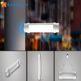 Wholesale Portable Fluorescent Lamps - LumiParty New Multifunction Rechargeable LED Portable Light Outdoor Camping hiking fishing reading light Emergency Night Lamp
