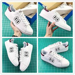hot sale online df1a3 65476 Venta caliente AAA + Stan Smith White Fashion Big eyes Diseñador de zapatos  corriendo para hombres de calidad superior al aire libre Classic Sneakers  Tamaño ...