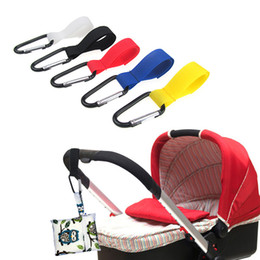 Wholesale baby clip hangers - Multi Purpose baby stroller hanger Hook Clips infant Pushchair Strong hanger hooks Toddler carriage Accessories 18 colors C3671