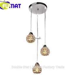 Wholesale Pendant Light Modern Small - FUMAT 3 Ball K9 Crystal Modern Small Pendant Light Lampshade Decoration Home Luminaire E14 110-240V