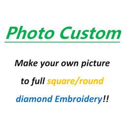 case del mediterraneo dipinti ad olio Sconti Immagine personalizzata !! Fai la tua foto di 5d Diy Diamond Painting Cross Stitch
