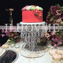 Bolo de casamento pilar on-line-Rodada De Acrílico De Cristal Bolo De Casamento Stand / Suporte De Flor De Casamento / Festa Do Evento Pillar Decoração De Mesa Central Do Casamento