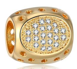 серьги из золота 24k Скидка Электрическое покрытие 24 К золото Алмаз установка Пан стиль подвески для браслеты подвески ожерелье свободные бусины с любовью и форме сердца