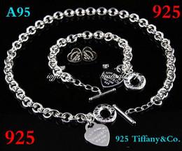 Canada 2019 nouveau designer marque nouvelle mode tiffany925 bijoux en argent costume costume colliers et bracelets boucles d'oreilles cadeau avec boîte livraison gratuite Offre