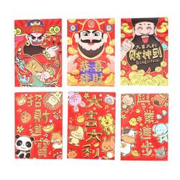 Sobre rojo año nuevo chino online-6 unids / set China Red Animal Envelope Completa Dinero Tradición Hongbao Año Nuevo Rojo Lucky Money Envelope Regalo Bolsillo para niños