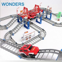 Wholesale Children Mini Train - Big Children Toys Electric Thomas Rail Car Kids Train Track Model Slot Toy Baby Racing Car Double Orbit Car Birthday Gift