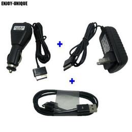 USB Tarih sync kablosu + Araç şarj + AC ABD adaptörü güç Asus eee Pad Trafo TF300 TF300T TF700 TF700T TF201 TF101 SL101 nereden toptan güç şeritleri tedarikçiler