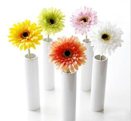 """Wholesale Artificial Pink Gerbera - Silk Sunflower Bridal Bouquet 4"""" head Gerbera Daisy Artificial Flower Wedding Home Decor Festive Party Supplies Decorative Flowers GA201"""
