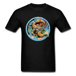 chinese dragons art Coupons - Awesome Cool 3d Dragon Print Men Black T Shirt Chinese Carve Art Design Adult Plus Size Tee Shirt Top Quality Clothing