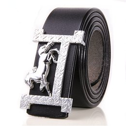 Wholesale boys leather jeans - 2017 H buckle belts brand designer belts smooth Buckle Original Casual Jeans straps men high quality belts luxury Leather belt