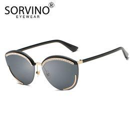 6faef50b920d SORVINO Rimless Diamond Cat Eye Sunglasses Women 2018 90s Brand Designer  Retro Rhinestone Pink Cateye Sun Glasses Shades SP185 discount pink diamond  ...