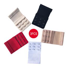 4c97a4255 3 PCS Extensores de Sutiã Alça de Sutiã Extensor Strap Acessórios  Ajustáveis 3 Ganchos 3 Linhas Lady Underwear Belt Adding