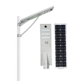 Wholesale 12v Lifepo4 - Radar Sensor 50W Led Solar Street Light Waterproof LED Road Light LiFePO4 Battery2000+cycles 8 Years Lifespan Mono solar panel Security lamp