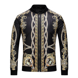 Wholesale Fashion Stands - AAA 2018 Italy Fashion Brand of Men Floral Print Colour Mixture Luxury Casual Harajuku Shirts Long sleeves Men's Medusa Men's Jackets