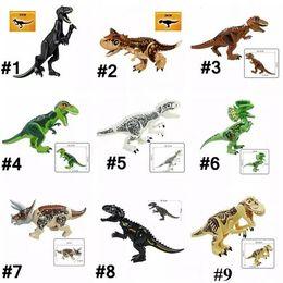miniature per i bambini Sconti Dinosaur Blocks Kids Toy Dinosaurs Figure Miniature Plastic Dinosaur Model Bambini Dinosauri Collection Bambini Novità Articoli CCA10723 30 pz
