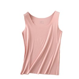 Wholesale U Size - Modal spagthetti strap vest women seamless plus size cotton undershirt u and v neck solid thin soft comfortable camisole