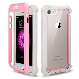 Capa de telefone 3in1 on-line-Para iphone xs xr xs max case 3in1 híbrido limpar tpu macio rígido pc tampa traseira phone case para iphone xr