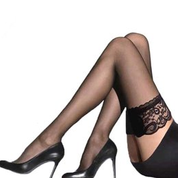 addfa237575 Women Sheer Sexy Stockings Lace Top Thigh High Stockings Over The Knee Socks  Nightclubs Pantyhose Calcetines. Supplier  yerter