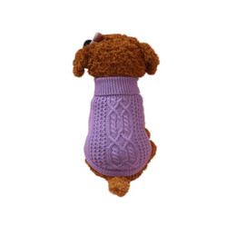 Wholesale Gray Puppies - Pet Dog Sweater For Small Dogs Puppies 2 Colours Gray Purple 3 Sizes XS~M Dog vest for small roupa para cachorro pequeno 555