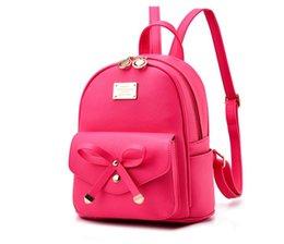 Объединенные рюкзаки онлайн-Сумки 2018 Европа и Соединенные Штаты мода небольшой рюкзак лук студент рюкзак небольшой свежий мешок