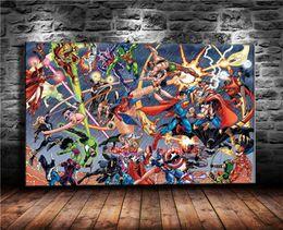 Justice League gegen Avengers, Leinwand Stücke Home Decor HD gedruckt moderne Kunst Malerei auf Leinwand (ungerahmt / gerahmt) von Fabrikanten
