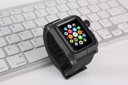 Argentina Marca de la banda de reloj para Apple ver iWatch banda de reloj caucho negro de silicona correa de hebilla clásica correa de reloj de metal cubierta de la caja de aluminio 42 mm Suministro
