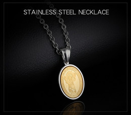 Wholesale Alloy Steel Products - New Products Europe and America Religion Jesus Pendant Necklace Titanium Steel Men Ms. Couples Necklace Jewelry Wholesale