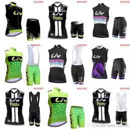 a10cc0412 LIV team Cycling Sleeveless jersey Vest (bib)shorts sets Summer Jersey  women s mountain bike bicycle road bike harness suit c2208 discount women  cycling ...
