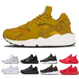 new product 35782 597c9 Air Huarache Run Ultra Breathe sneaker Triple White Black red men women  Huarache Shoes Huaraches mens sports shoes Running Shoes size 36-45