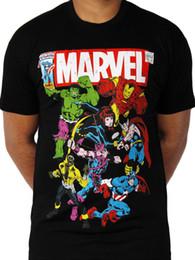 ede9bc0a3 Avengers Team up Official Marvel Comics Poster Ironman Hulk Black Mens T- shirt