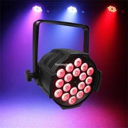 Wholesale Led Par Lights China - 2 pieces lot 18x18 led par china par led rgbwa uv 6in1 dmx par64 led par light