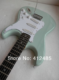Wholesale sky blue guitar - free shipping high quality 6 Strings Custom Shop Guitar Sky Blue Stratocaster Electric Guitar Ebony FingerBoard Made In USA