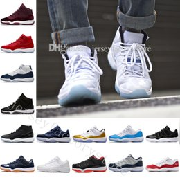 Wholesale womens white fur boots - Gym Red GS Midnight Navy Win Like 82 11 Breds Basketball Shoes New 11 Space Jam Mens Sports Shoes Womens Trainers Boots 11 XI Mens Sneakers