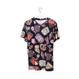 girls graphic tees Coupons - Women T-shirt Food Black 3D Full Print Girl Free Size Stretchy Casual Tops Lady Short Sleeves Digital Graphic Tee Shirt Blouse (GL36368)