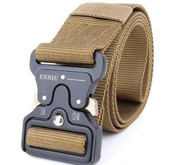 Wholesale tactical belt webbing - Army Tactical Waist Belt Man Jeans Male Military Waist Casual Canvas Webbing Nylon Duty Strap Belt